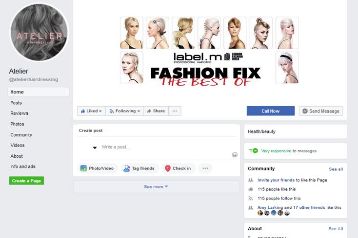 Nifty Bear Web Design Portfolio Atelier Hairdressing 1