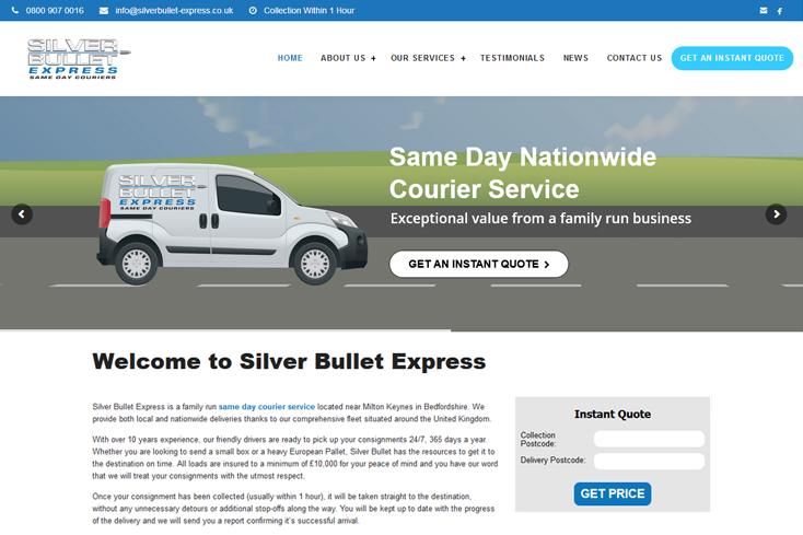 Nifty Bear Web Design Portfolio Silver Bullet Express 1