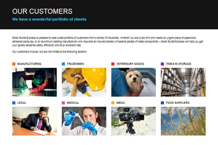 Nifty Bear Web Design Portfolio Silver Bullet Express 2